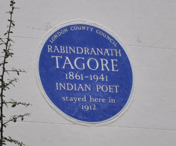 Tagore Blue Plaque