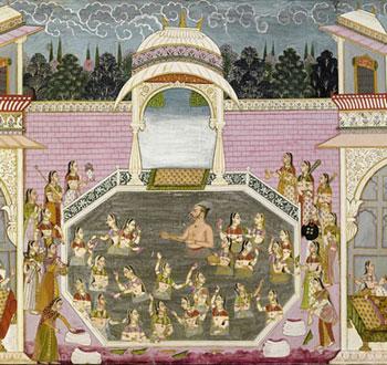 Maharaja Playing Holi